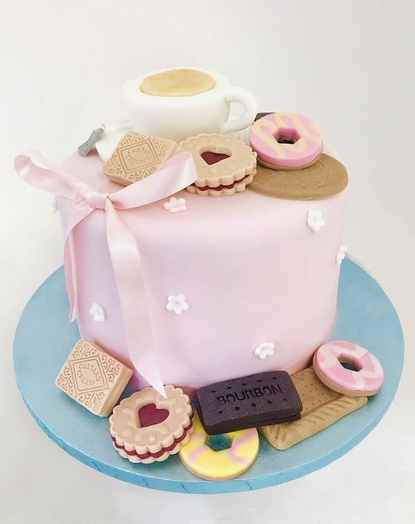 tea and biscuits cake class 1