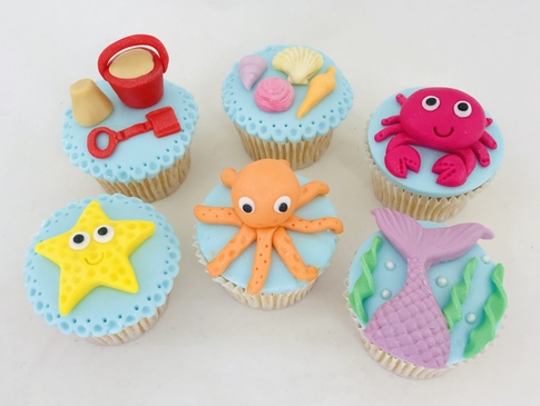 under the sea cupcakes 1